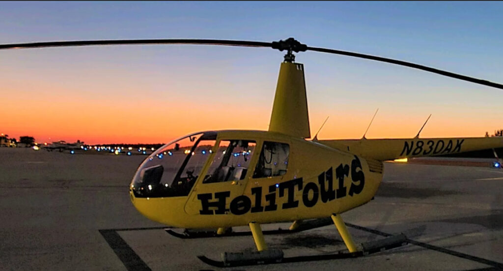romantic helicopter ride